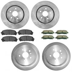 08-13 Toyota Highlander Front & Rear Premium Posi Ceramic Disc Brake Pad & Rotor Kit