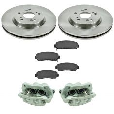 07-12 RDX, 07-11 CR-V, 10-11 Crosstour, Front  Disc Brake Caliper, Ceramic Brake Pad & Rotor Kit