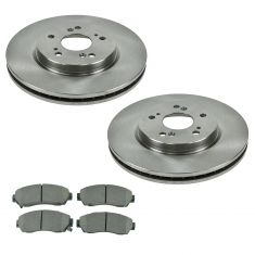 12-16 CR-V, 11-15 Crosstour, Front Premium Posi Ceramic Disc Brake Pads & Rotor Kit