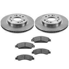05-09 GM Full Size Truck (w/Rear Drum) Premium Posi Metallic Front Brake Pad & Rotor Set