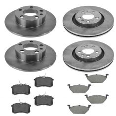 98-02 VW Jetta Golf Beetle Front & Rear Ceramic Pads & Rotor Kit