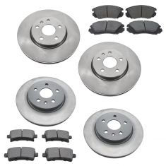 GM Multifit Front & Rear Premium Posi Ceramic Disc Brake Pad & Rotor Kit