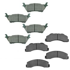 12-17 Ford F-150 Front & Rear Premium Posi Ceramic Disc Brake Pad Set