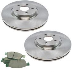 13-16 Escape AWD Front Premium Posi Ceramic Disc Brake Pad & Rotor Kit