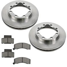 Chevy GMC Dodge Truck Fron Posi Ceramic Pad & Rotor Kit