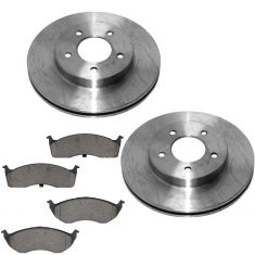 Chrysler Dodge Multifit Front Posi Ceramic Brake Pad & Rotor Kit