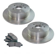 08-13 Highlander Rear Premium Posi Ceramic Pad & Rotor Kit