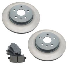 Buick, Cadillac , Chevy Saab Multifit Rear Posi Ceramic Pad & Rotor Kit