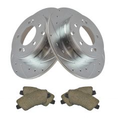 09-10 Sonata 3.3L; 10-11 Azera Rear Posi Ceramic Pad & Performance Rotor Kit