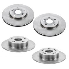 08-12 Accord EX; 09-14 TSX Front & Rear Brake Rotor Kit
