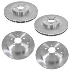 Pontiac, Scion, Toyota Front & Rear Brake Rotor Kit
