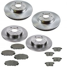 11-14 Scion tC Front & Rear Premium Posi Ceramic Brake Pad & Rotor Kit