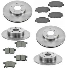 08-17 Accord; 09-14 TSX Front & Rear Premium Posi Ceramic Disc Brake Pad & Rotor Kit