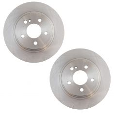 08-09 C230; 10-15 C250; 08-12 C300 Rear Disc Brake Rotor Pair