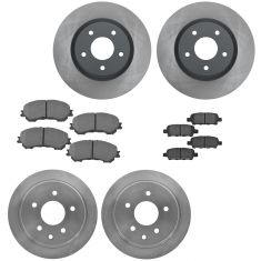 14-17 Nissan Rogue w/o 3rd Row Front Premium Posi Ceramic Brake Pad & Rotor Kit
