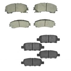 14-17 Nissan Rogue w/ 3rd Row Front & Rear Premium Posi Ceramic Pad Kit