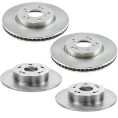 13-17 Accord w/ 2.4 Exc. LX Models Front & Rear Disc Brake Rotor Kit