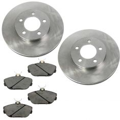 1994-00 Taurus Sable Front Posi Ceramic Brake Pad & Rotor Kit