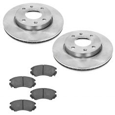03 Sonata; 02 optima Front Posi Ceramic Brake Pad & Rotor Kit