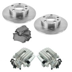 02-06 TT, 98-10 Beetle, 99-06 Golf, Rear Brake Caliper ,Ceramic Pads & Rotors Kit