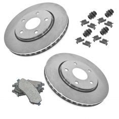 08-10 Chrysler Van Premium Posi Ceramic Disc Brake Pad w/HW & Rotor Kit Front