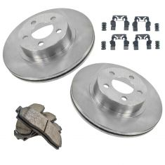 Ford Mazda Pickup; Premium Posi Ceramic Front Disc Brake Rotor & Pad w/HW Set