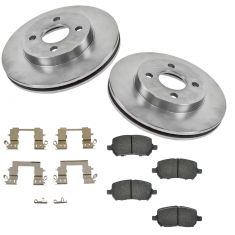 05-10 Cobalt; G5; Ion; Pursuit (4 Lug) Front Ceramic Pad w/HW & Rotors