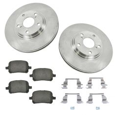 99-03 Lexus RX300 Front Ceramic Brake Pad w/HW & Rotors Set