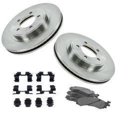 06-10 Explorer, Mountaineer; Sport Trac Front Ceramic Pad w/HW & Rotors Set