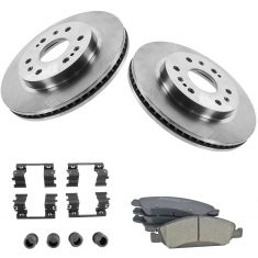 08-13 Chevy GMC Pickup Front Premium Posi Ceramic Brake Pad w/HW & Rotors