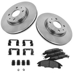 08-11 Ford Focus Front Disc Brake Rotor & Ceramic Pad w/HW set
