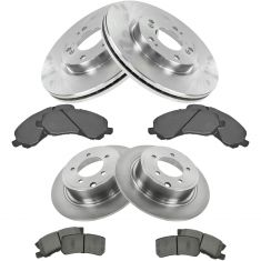 Chrysler Multifit Front & Rear Posi Metallic Brake Pad & Rotor Kit