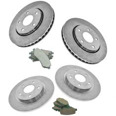 Chrysler, Dodge, Ram Mulitfit Front & Rear Posi Ceramic Brake Pad & Rotor Kit