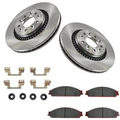 Ford Mercury Multifit Front Premium Posi Ceramic Brake Pad Rotor & Hardware Kit