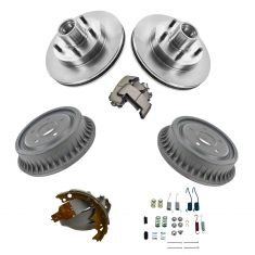 92-03 GM Mid Size PU w/2WD Front Rotor w/Prem Ceramic Pads w/Rear Drum, Shoes & Hardware Kit