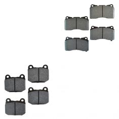 Evolution EVO WRX STI Front & Rear Brake Pad HPS (Hawk)