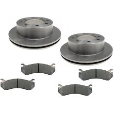 REAR Raybestos Ceramic Disc Brake Pad & Rotor Kit 56828R & SGD785C
