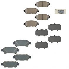 04-10 Toyota Sienna Front & Rear Brake Pad Set Kit (Toyota)