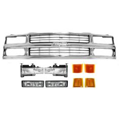 94-02 Chevy PU Truck w/Comp HL Grille Set