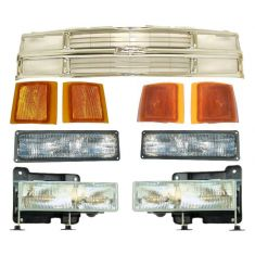1994-02 Chevy Blazer Pickup Tahoe Chrome Grille and Light Kit