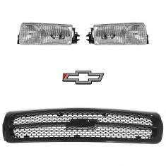 1994-96 Chevy Impala SS Grille and Lights Kit