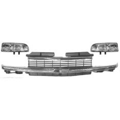 1998-03 Chevy S10 Blazer LS Chrome Silver Grille Kit