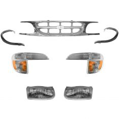 1995-00 Ford Explorer Chrome Grill and Light Set