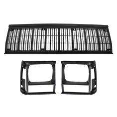 91-96 Jeep Cherokee; 91-92 Comanche Grille & Headlight Door SET