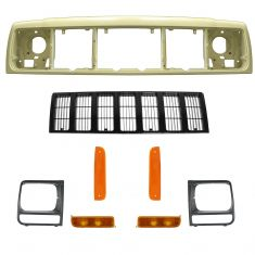 97-01 Jeep Cherokee Grille & Light Kit
