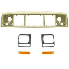 97-01 Jeep Cherokee Header Panel, Parking Light, & Bezel Kit