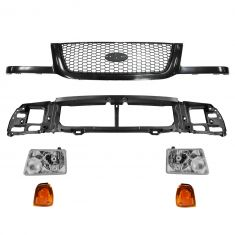01-03 Ford Ranger Grille, Parking Light, Headlight & Mounting Panel Kit