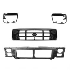92-96 Ford Bronco, F150, F250, F450; 92-97 F350 Grille, Headlight Bezel, & Mounting Panel Kit