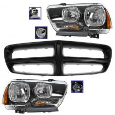 11-14 Dodge Charger (ex RT) PTM Grille & Headlight Kit