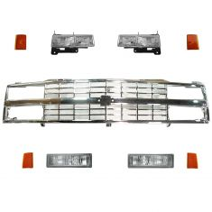 90-93 Chevy Truck SUV Grill & Lighting Kit (9 Piece)